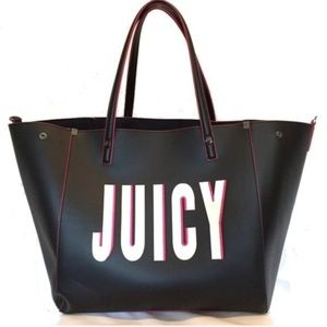 🆕️ JUICY COUTURE Handbag Set Vegan Leather Black